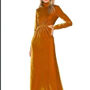 Ronny Kobo sova gold cutout gown. Brand new.